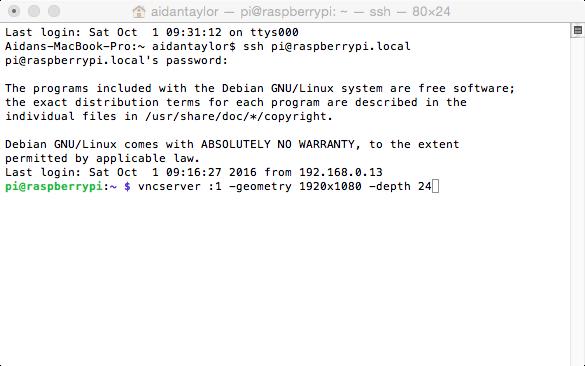 Remote Access your Raspberry Pi Raspbian GUI on Mac using